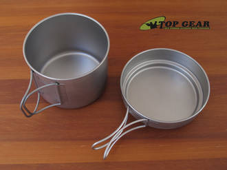 Vargo Titanium Ti-Boiler Camp Pot / Mug and Pan, 900 ml - 00418