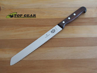 "Victorinox 10"" Bread Knife with Rosewood Handle - 5.2930.26"