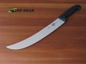 "Victorinox 12"" Butchers Steak / Cimeter Knife with Fibrox Handle - 5.7303.31"