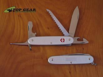 Victorinox Farmer Alox Swiss Army Knife, Silver Alox - 0.8241.26