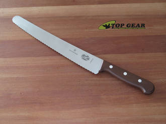 Victorinox Pastry and Bread Knife, 26 cm, Modified Maple Handle - 5.2930.26G