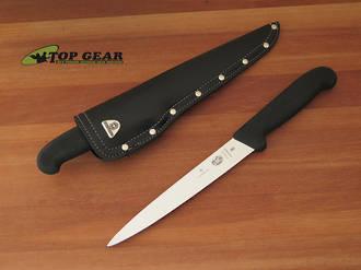 Victorinox Semi-Flexible Fish Filleting Knife with Leather Sheath - FISHSET