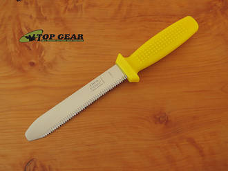 Victory Professional Diving Knife with Blunt Tip, Yellow Handle - 2/342/16/116