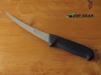 Victory Butcher's Pro-Grip Curved Boning Knife, 15 cm, Black Progrip Handle - 2/720/15/200B