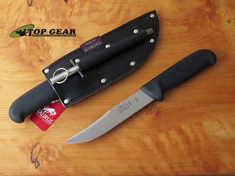 Victory Outdoor / Bushcraft Knife with Leather Sheath, High Carbon Steel - 1/302/15/200B