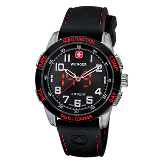Wenger Men's LED Nomad Analog Watch with Digital Compass - 70430