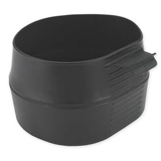 Wildo Fold-A-Cup Foldable Plastic Cup, Black, 600ml -