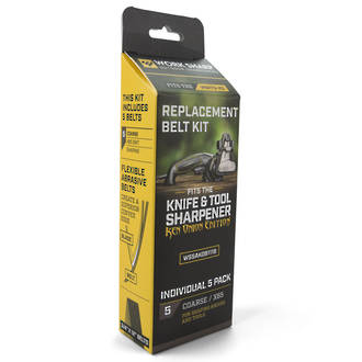 Worksharp Ken Onion Edition Knife and Tool Sharpener Replacement Belt Kit, Coarse - X65 - WSSAK081118