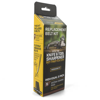 Worksharp Ken Onion Edition Knife and Tool Sharpener Replacement Belt Kit, Extra-Coarse - P120 - WSSAK081117