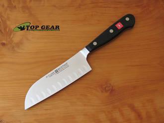 "Wusthof Classic 5"" Hollow Edge Santoku Knife - 4182/14cm"