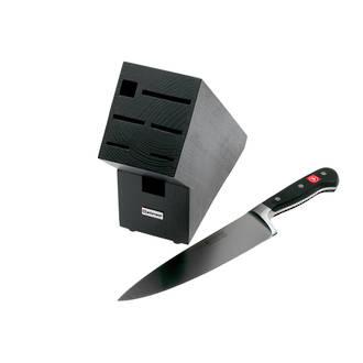 Wusthof Classic 8 Inch Cooks Knife with Knife Block, Black Beechwood - 9838-99