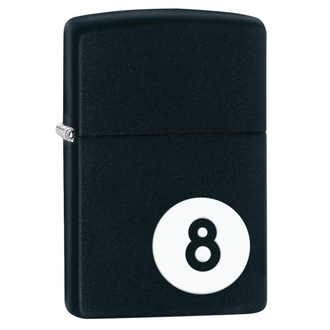 Zippo 8 Ball Windproof Lighter, Licorice Matte - 28432