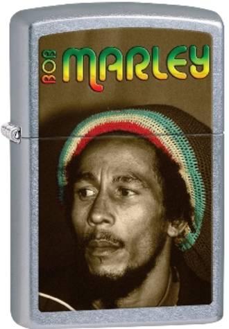 Zippo Bob Marley Windproof Lighter - Street Chrome 28488
