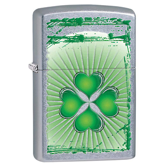Zippo Clover Grunge Windproof Lighter - Street Chrome 28659