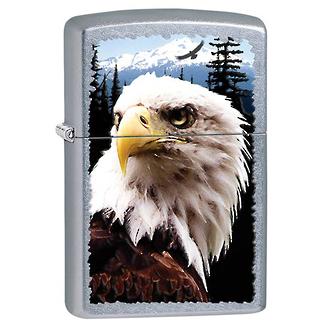 Zippo Eagle Windproof Lighter, Street Chrome - 28462