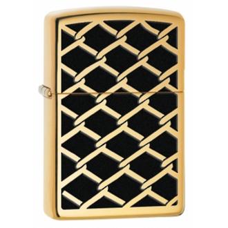 Zippo Fence Design Windproof Lighter High Polished Brass - 28675