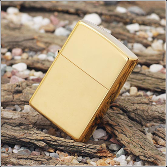 Zippo Windproof Lighter High Polished Brass, WO/SB - 254B REG