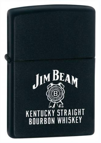 Zippo Jim Beam Kentucky Straight Lighter - Black 28072