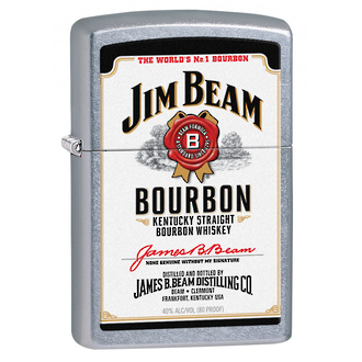 Zippo Jim Beam White Label Windproof Lighter - 28419