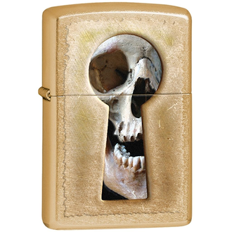 Zippo Keyhole Skull Windproof Lighter, Gold Dust - 28540