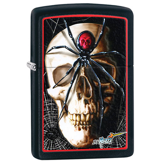 Zippo Mazzi Skull and Spider Windproof Lighter - 28627