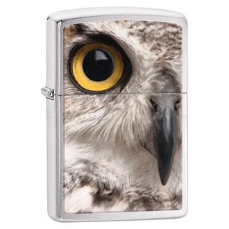 Zippo Owl Face Brushed Chrome Windproof Lighter - 28650