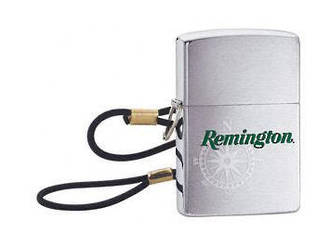 Zippo Remington Lossproof Windproof Lighter, Brushed Chrome - 24646