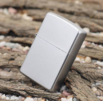 Zippo Satin Chrome Windproof Lighter - 205