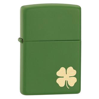 Zippo Shamrock Windproof Lighter, Moss Green Matte - 21032