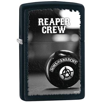 Zippo SOA Reaper Crew Windproof Lighter, Black - 28677