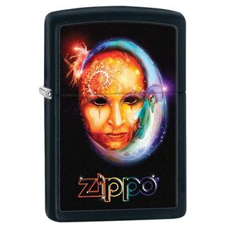 Zippo Venetian Mask Windproof Lighter, Black - 28669