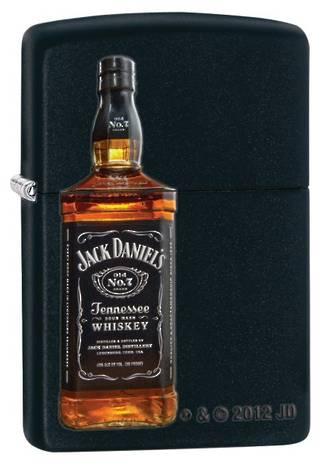 Zippo Jack Daniels Bottle - Black Matte 28422