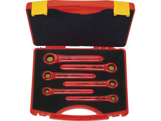 1000V VDE Ratchet Wrench Set 6pce