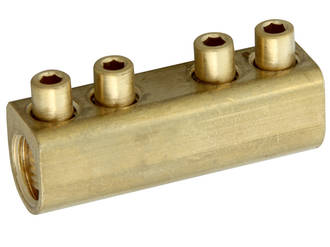Brass Tunnel Connector up to 1kV