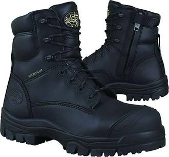 Oliver AT 45-645Z Lace Up Zip Side Safety Boot Black