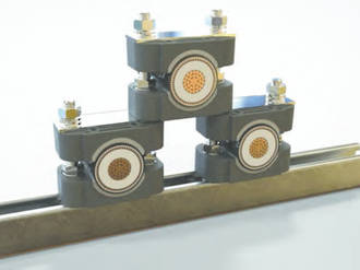 Raychem Single Cable Clamps With Strut Nuts