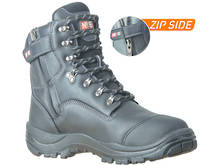 Wiremu Zip Ankle Lace Up Safety Boot