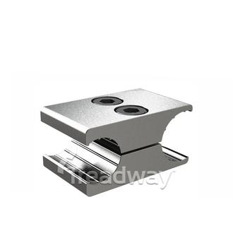 Wheel Chair Hand Brake Fixture Silver Alloy For 22mm Rim