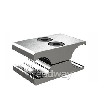 Wheel Chair Hand Brake Fixture Silver Alloy for 25mm Rim