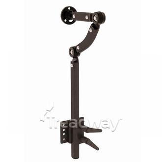 Medical Head Rest Holder Black Aluminium Height Adjustable Gooseneck