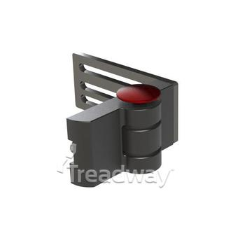 Medical Positioning Hinge Black Aluminium Left Side 180 degrees 100mm Plate