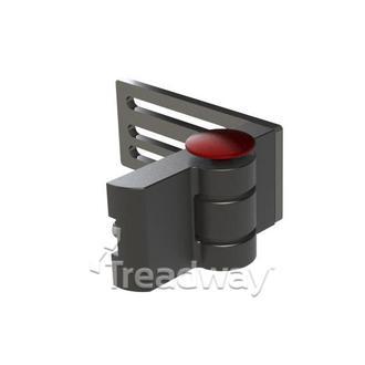 Medical Positioning Hinge Black Aluminium Left Side 180 degrees 140mm Plate
