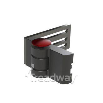 Medical Positioning Hinge Black Aluminium Right Side 180 degrees 140mm Plate