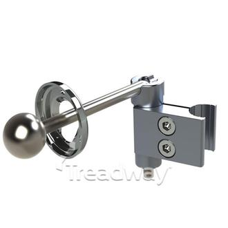 Medical Swivel Bar 165mm with 25mm Ball head and 25mm Tube Clamp
