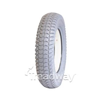 Tyre 300-8 Grey Solid Fill PU White W2805