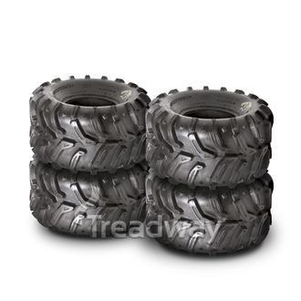 Tyre Combo (4) 25x8-12 & 25x10-12 Swamp Witch W158 Deestone