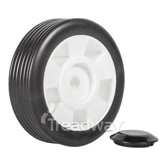 "Wheel 5"" Plastic White ½"" Plain Bore W112"