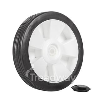 "Wheel 8"" Plastic Ctr ½"" Plain Bore"