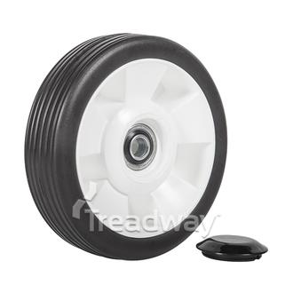 "Wheel 6"" Plastic White ½"" BB"