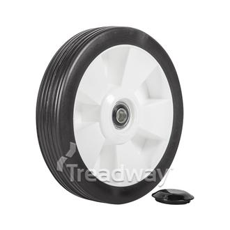 "Wheel 8"" Plastic Ctr ½"" BB"
